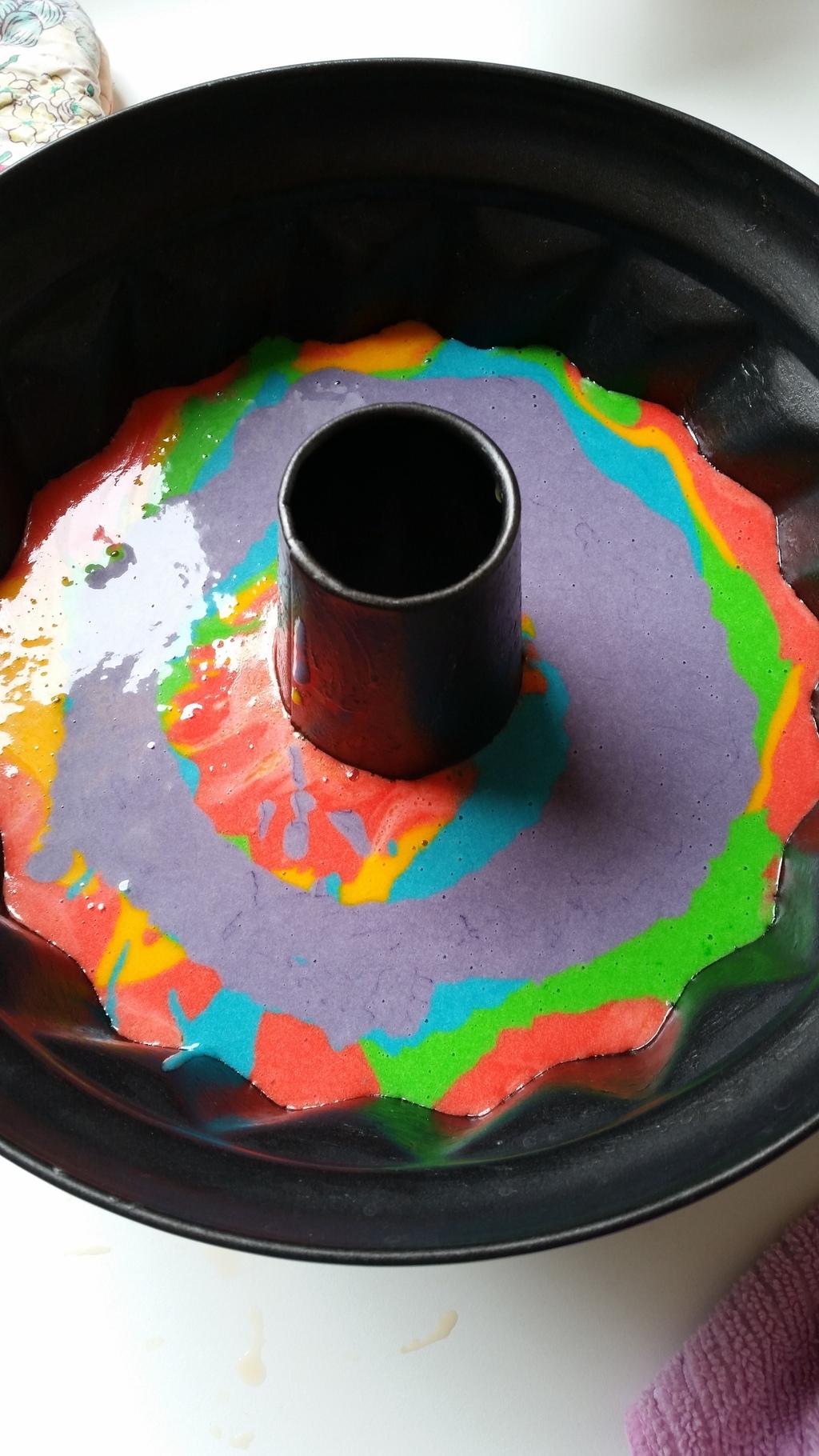 Regenbogenkuchen farbe