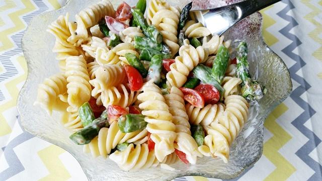 spargel nudel salat